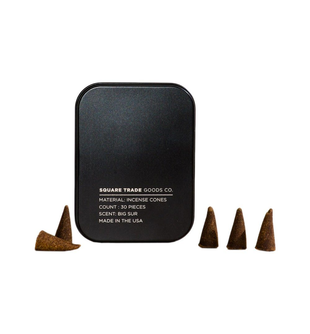 Square Trade Goods Incense Cones - Big Sur - Home Essentials - Iron and Resin