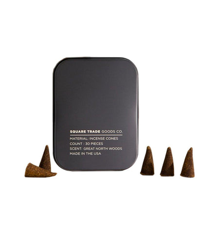 Square Trade Goods Co. Incense Cones - Great North Woods - Home Essentials - Iron and Resin