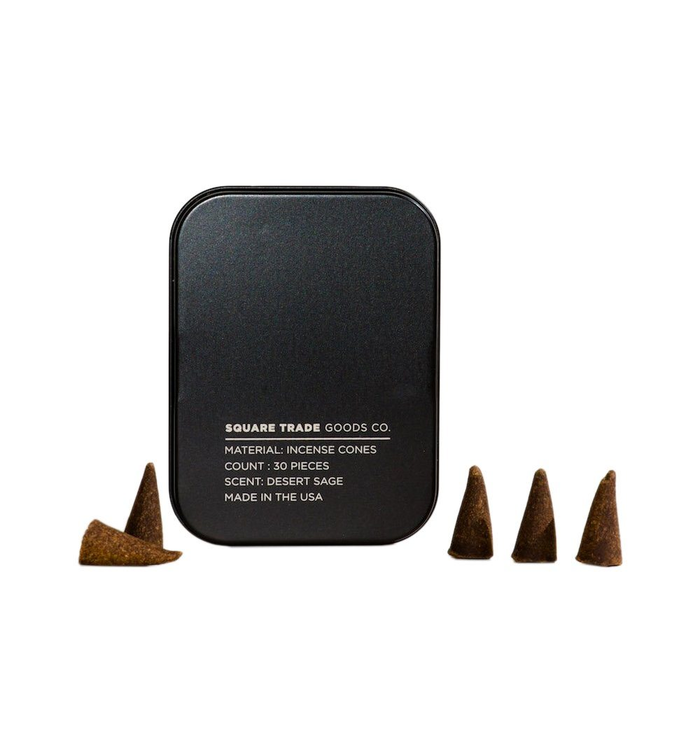 Square Trade Goods Incense Cones - Desert Sage - Home Essentials - Iron and Resin