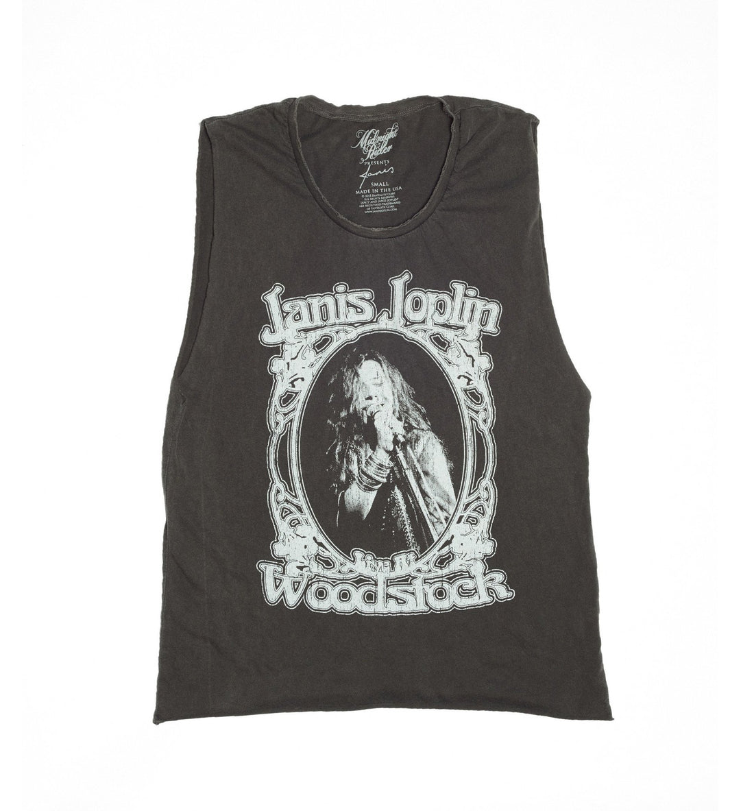 Midnight Rider - Janis Joplin Live at Woodstock Muscle Tee - Tops - Iron and Resin