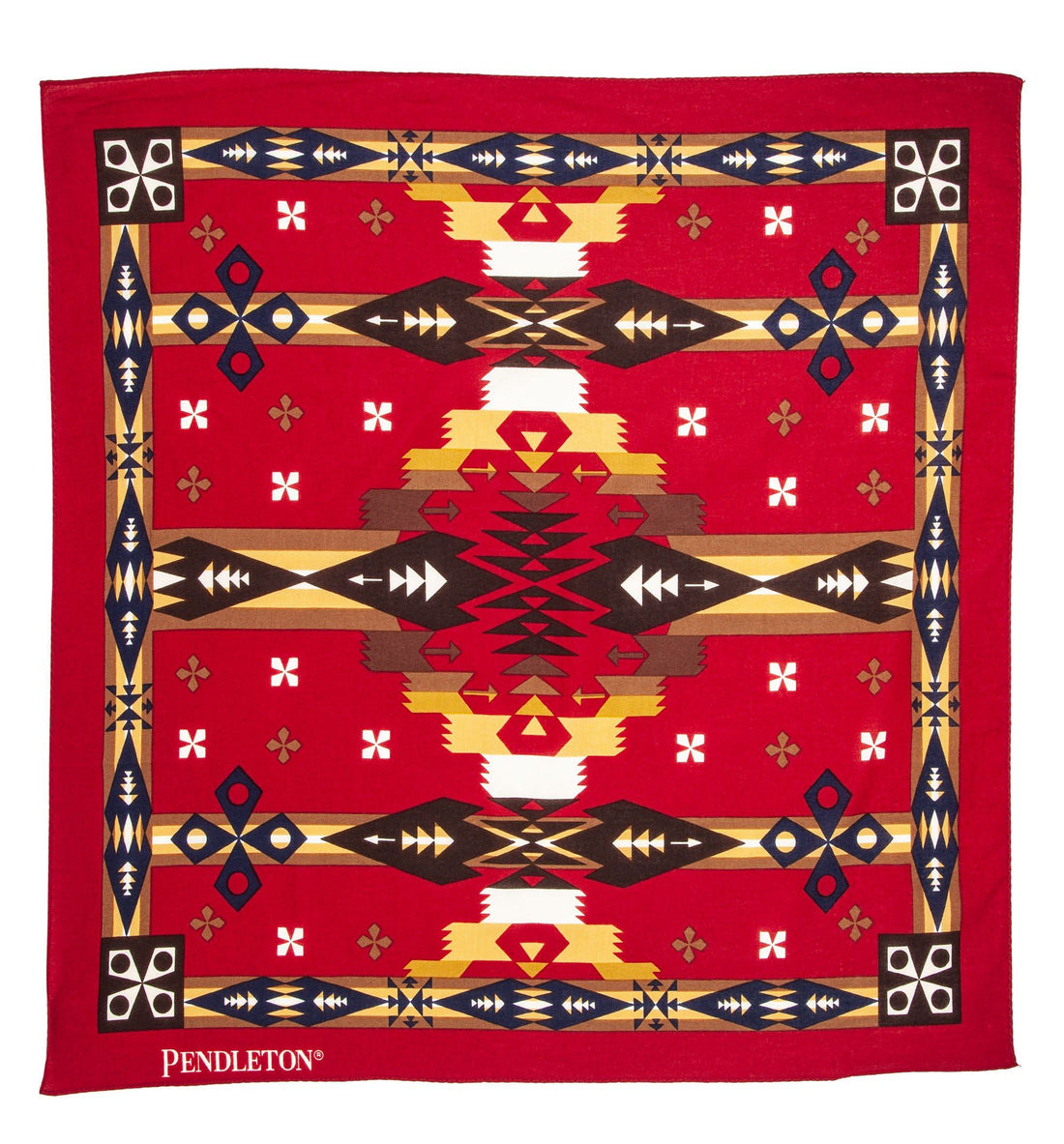 Pendleton Woolen Mills Jumbo Bandana - Tucson Red - Bandanas - Iron and Resin
