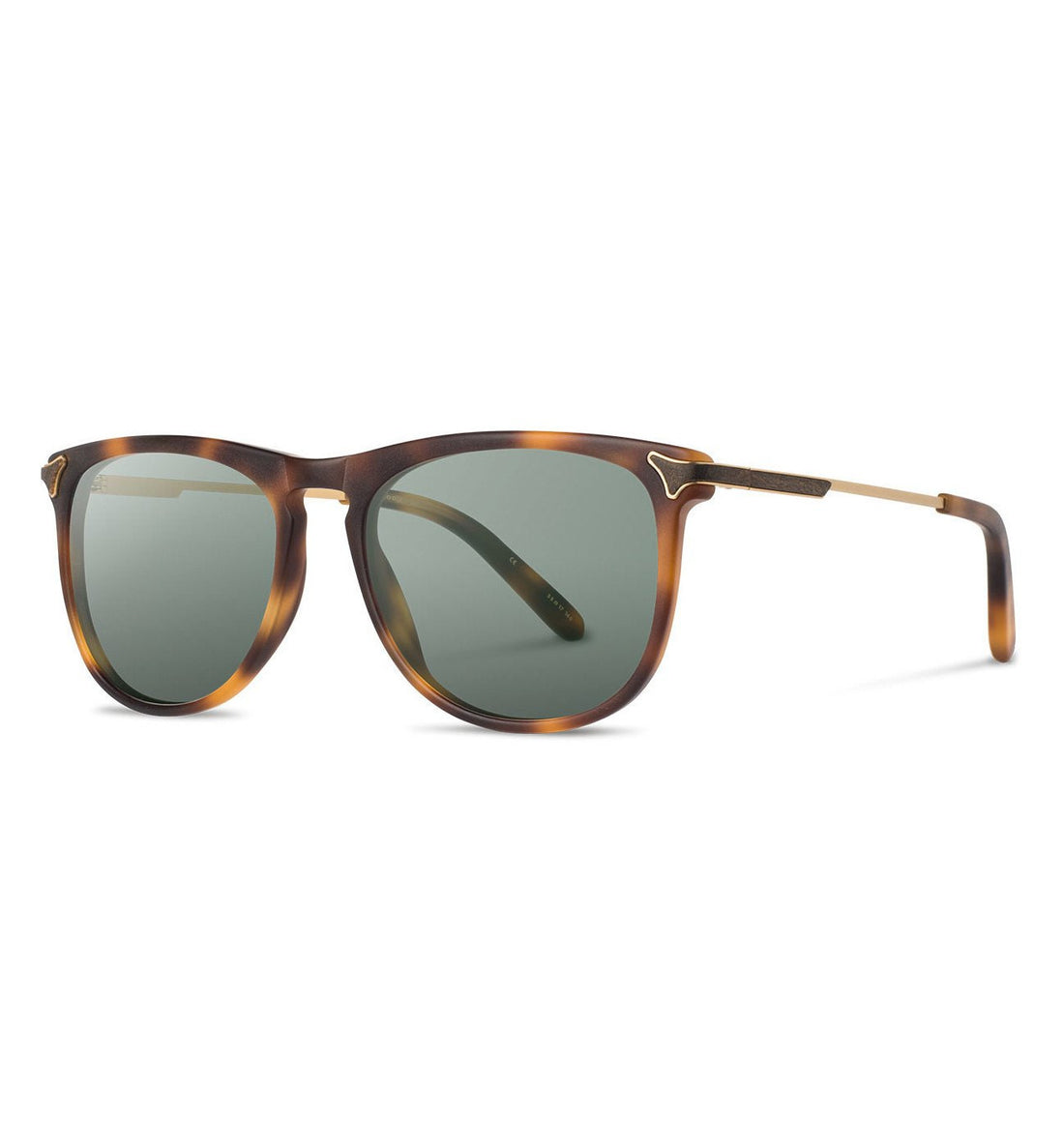 Shwood Keller, Matte Brindle - G15 - Sunglasses - Iron and Resin