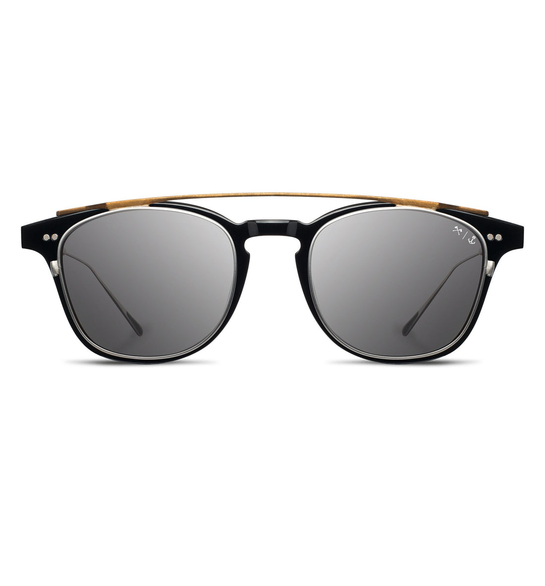 InR x Shwood - Kennedy Clip - Black/Grey/Polarized - Sunglasses - Iron and Resin
