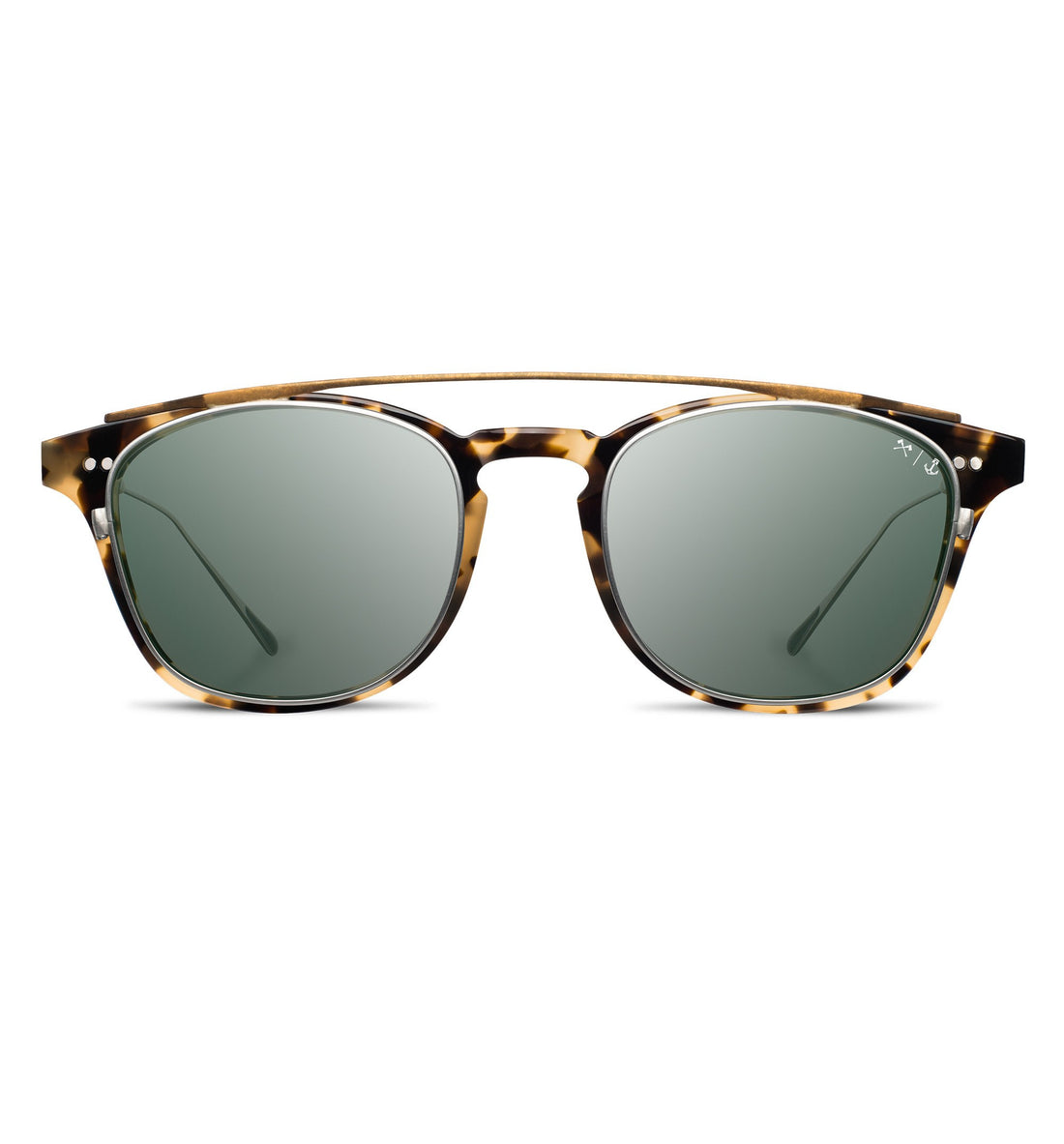 InR x Shwood - Kennedy Clip - Havana/G15/Polarized - Sunglasses - Iron and Resin