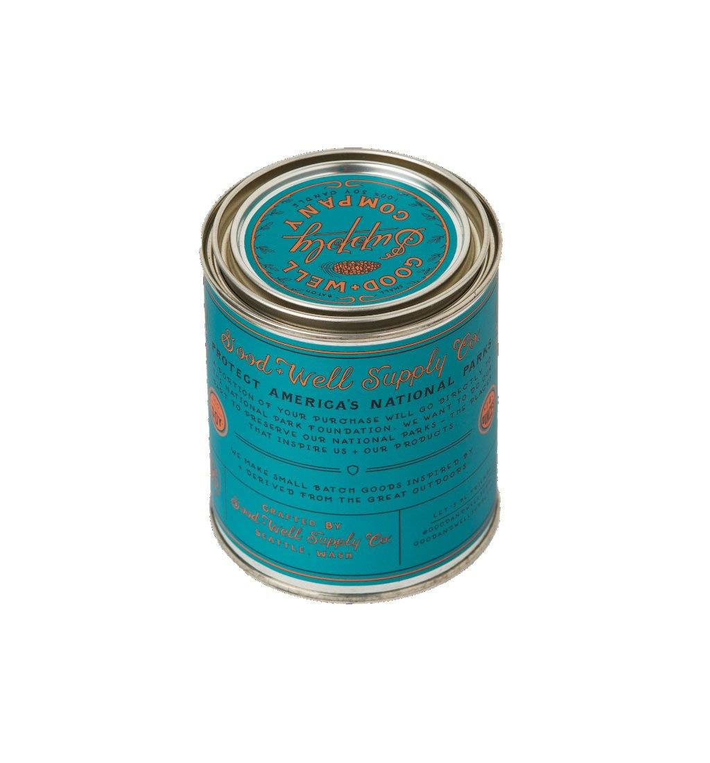 Good & Well Supply Company National Park Candle - Kings Canyon - 1/2 Pint - Home Essentials - Iron and Resin