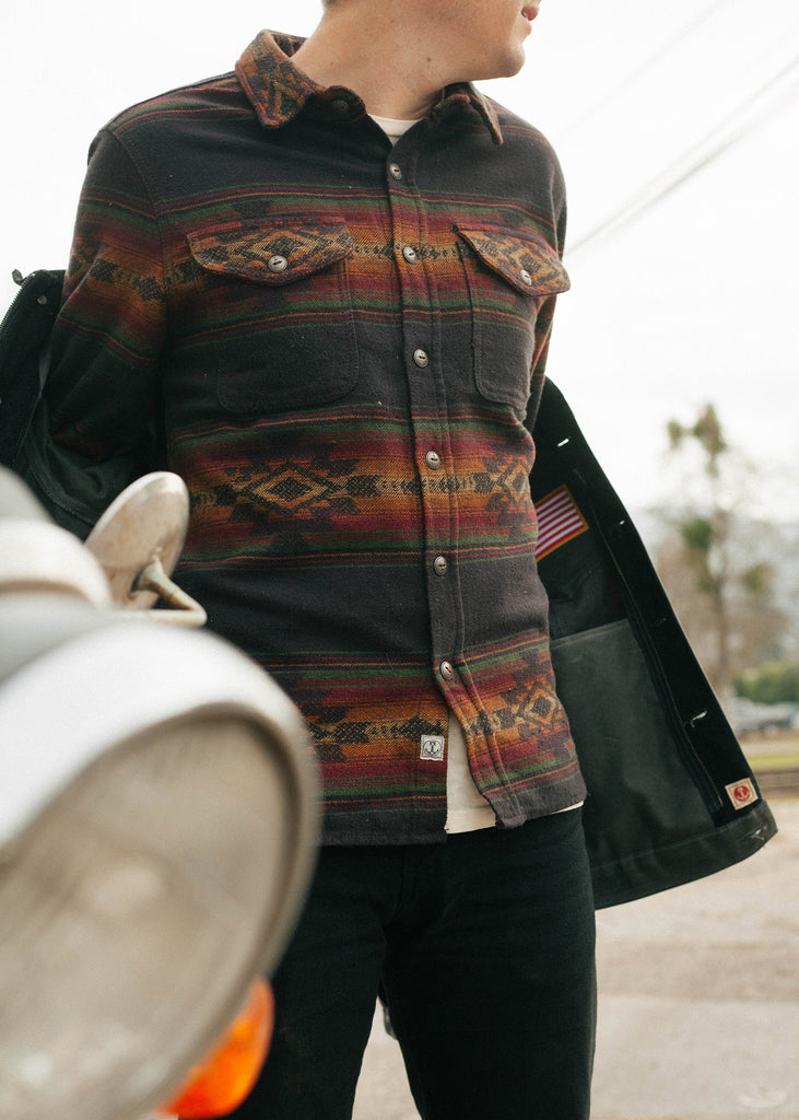 Iron & Resin Klamath Flannel Shirt Jacquard Woven Pattern