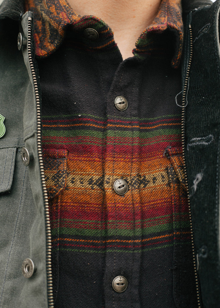 Iron & Resin Klamath Flannel Shirt Front Details Men's Shirt