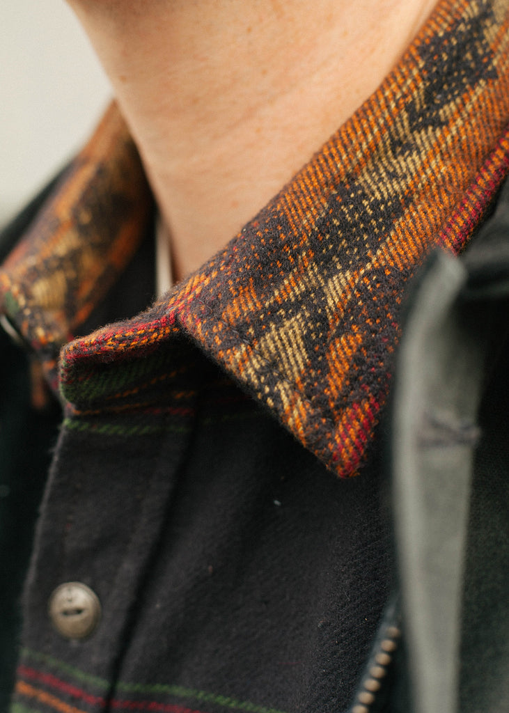 Iron & Resin Klamath Flannel Shirt Collar Detail