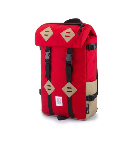 Topo Designs Klettersack - Red/Khaki Leather - Bags/Luggage - Iron and Resin