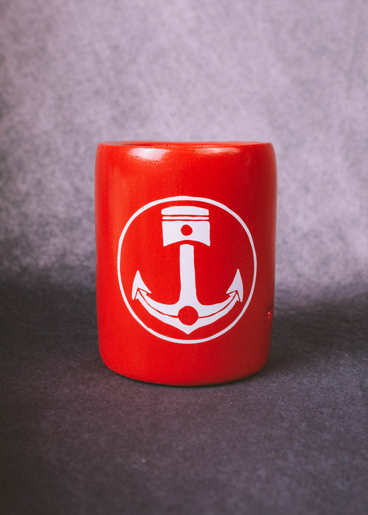 Iron & Resin Kool Can Drink Cozy in Red