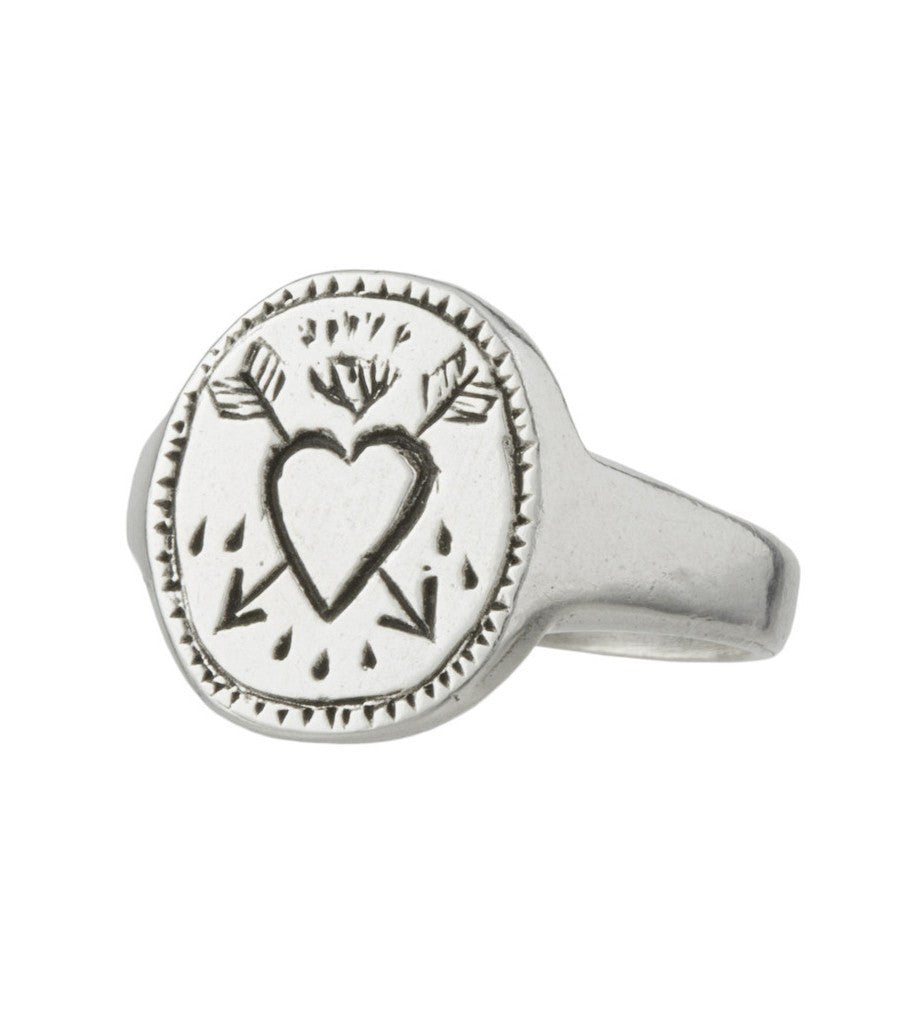 LHN Pierced Heart Ring - Jewelry: Men's - Iron and Resin