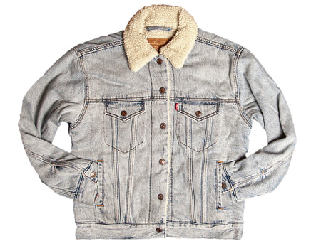 Levi's EX-BF Women's Sherpa Trucker - Outerwear - Iron and Resin