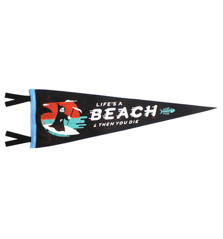 Oxford Pennant - Life's A Beach - Living Space - Iron and Resin