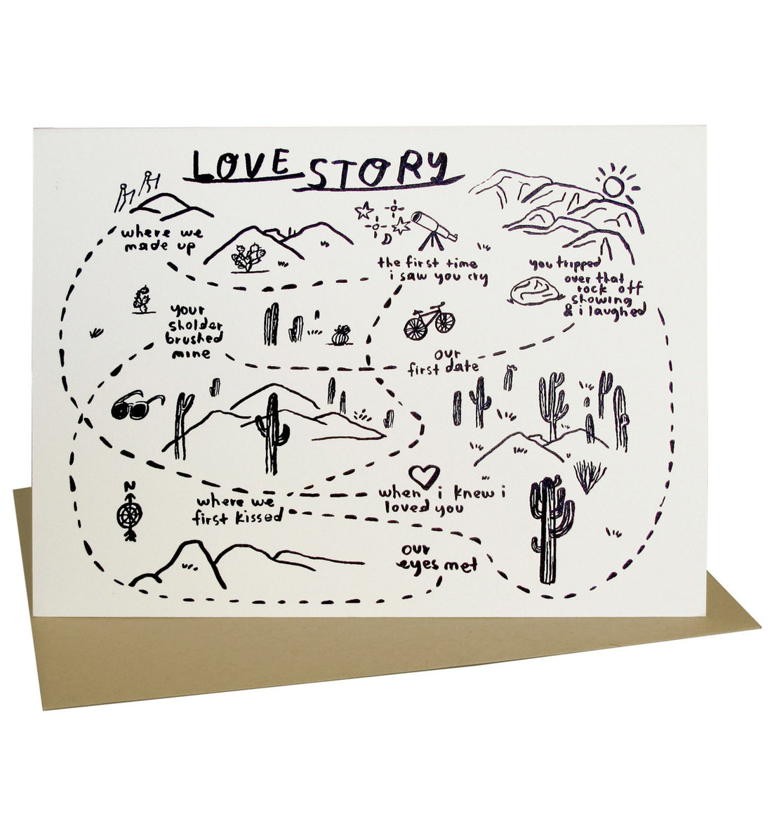 People I've Loved - Love Story Card - Art/Prints - Iron and Resin