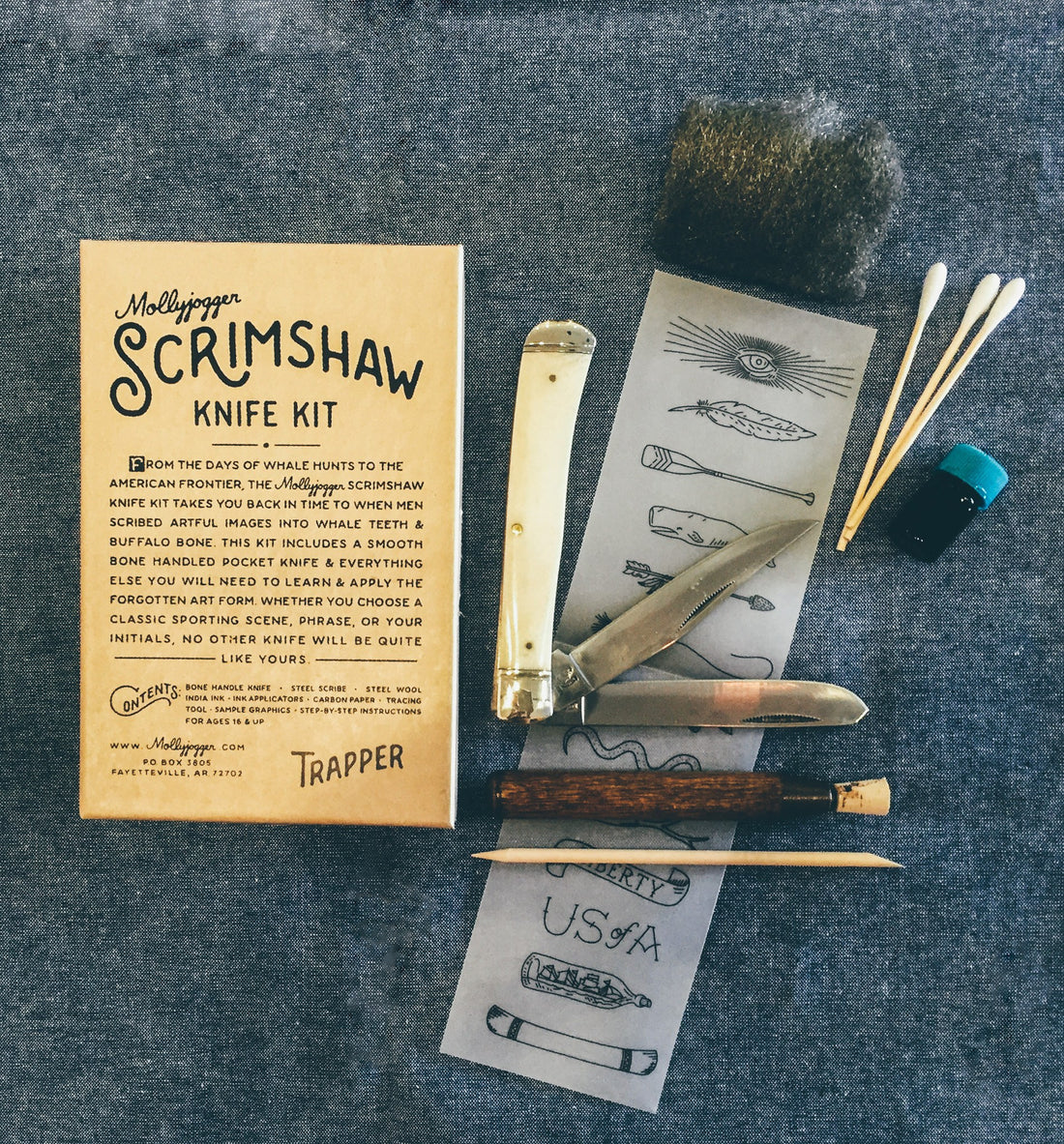 Mollyjogger Scrimshaw Kit - Outdoor Living/Travel - Iron and Resin
