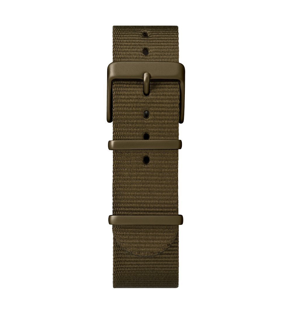 Timex MK1 Aluminum - Olive anodized case, silver dial, olive fabric strap - Watches - Iron and Resin
