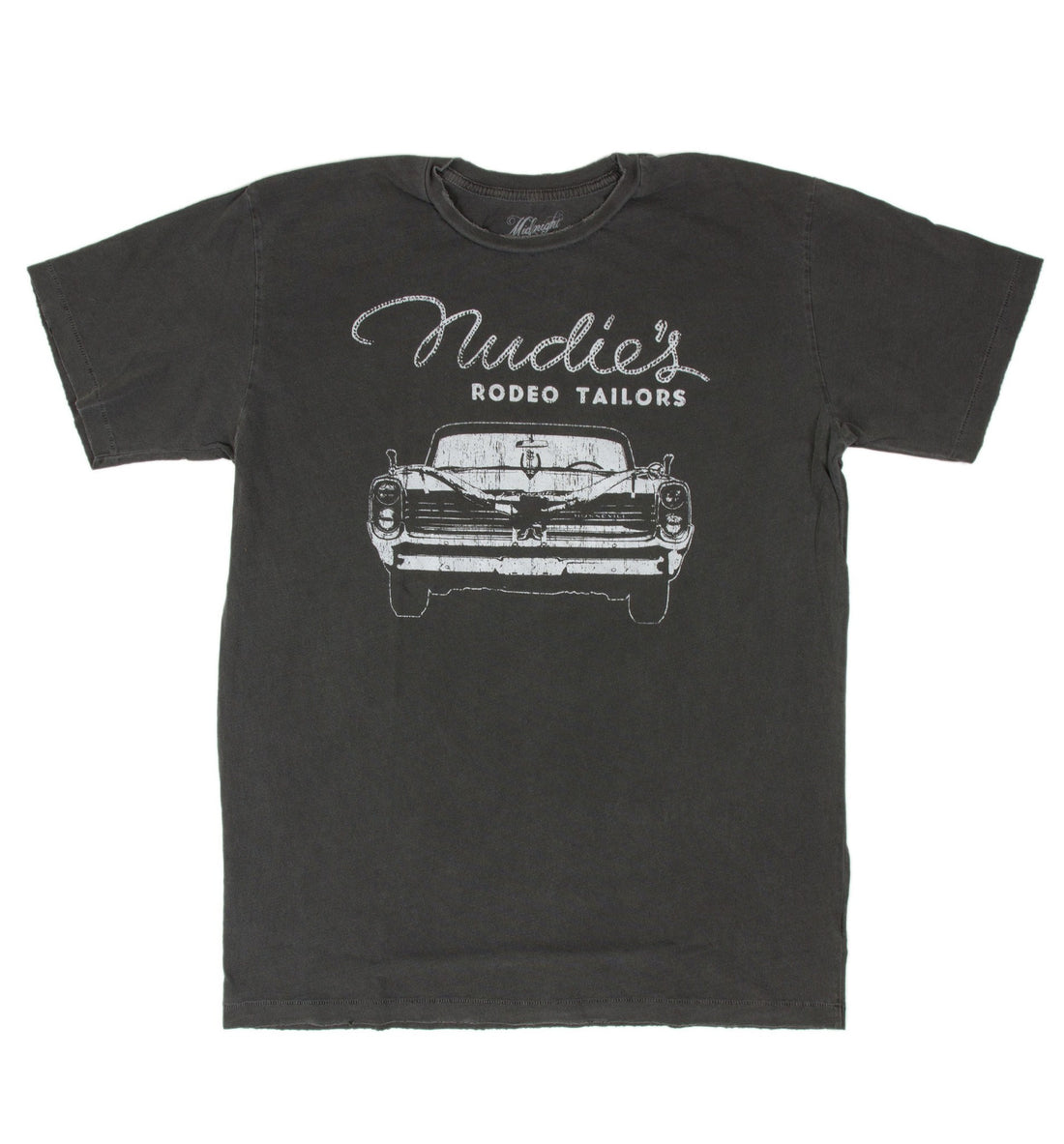 Midnight Rider Nudie Bonneville Men's Crew - Apparel: Men's: T-Shirts - Iron and Resin