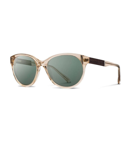 Shwood Madison, Champagne // Ebony - Rose Flash Polarized