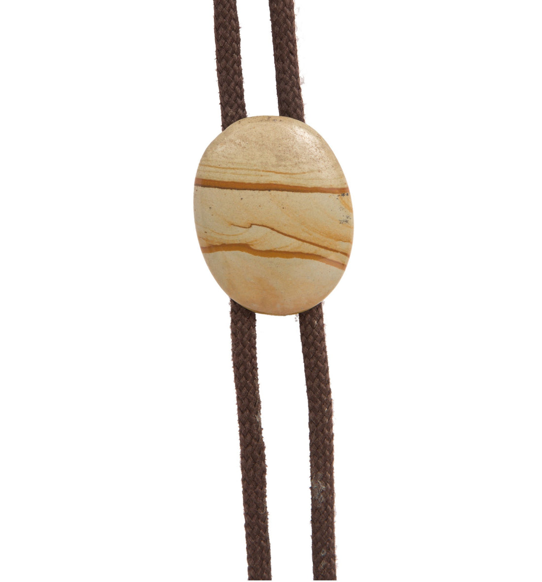 Vintage Brown&Green Marble Bolo Tie - Vintage: Women's - Iron and Resin