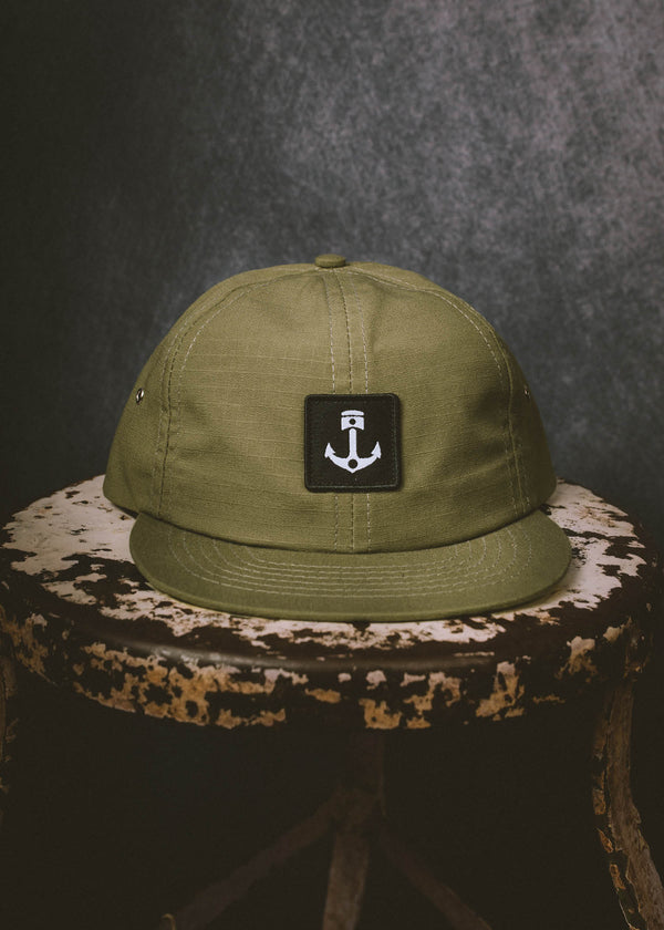 Iron & resin Maverick Hat in Army