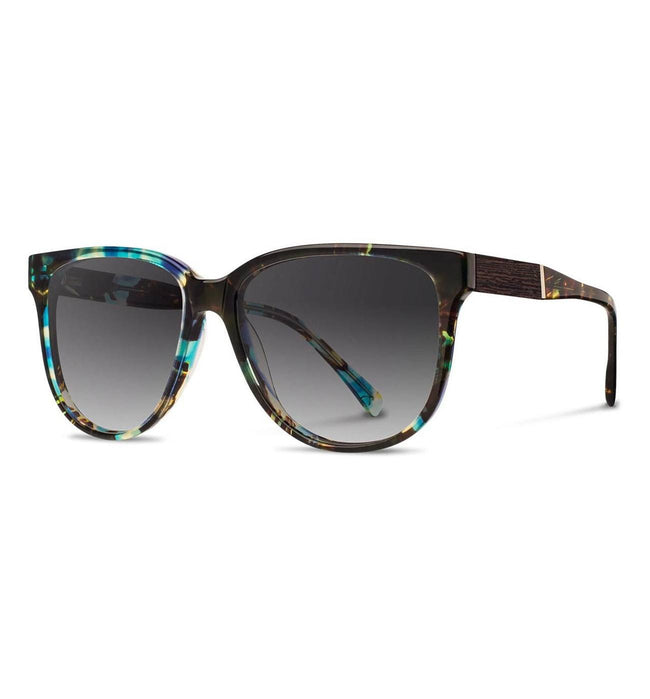 Shwood Mckenzie, Blue Opal // Ebony - Grey Fade - Accessories: Eyewear - Iron and Resin