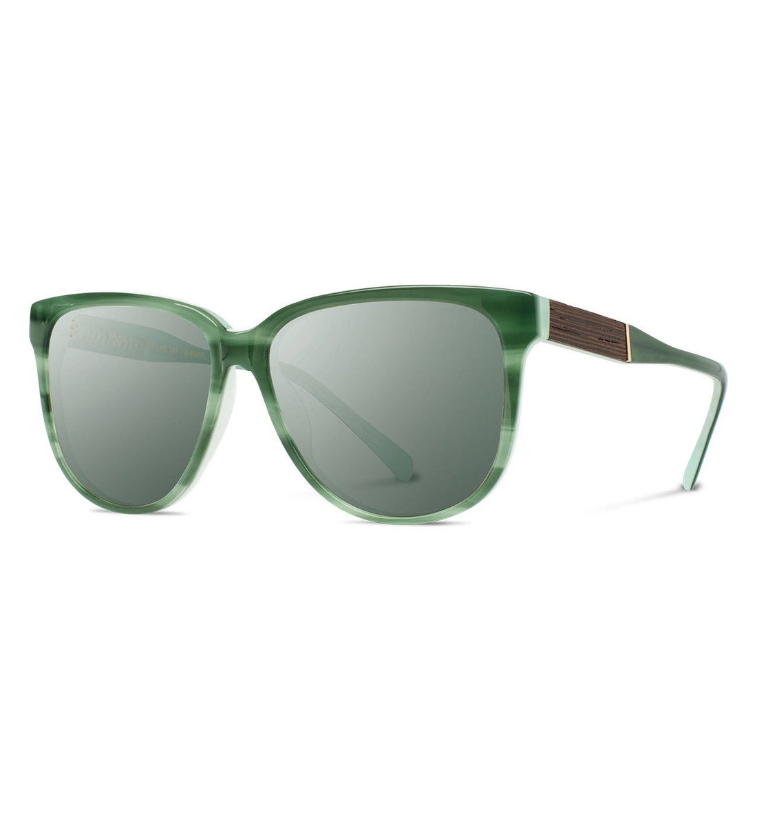Shwood Mckenzie, Jade // Ebony - G15 - Sunglasses - Iron and Resin