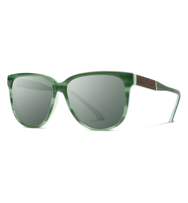 Shwood Mckenzie, Jade // Ebony - G15 - Accessories: Eyewear - Iron and Resin
