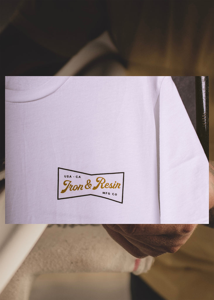 Iron & Resin Miller Tee in White