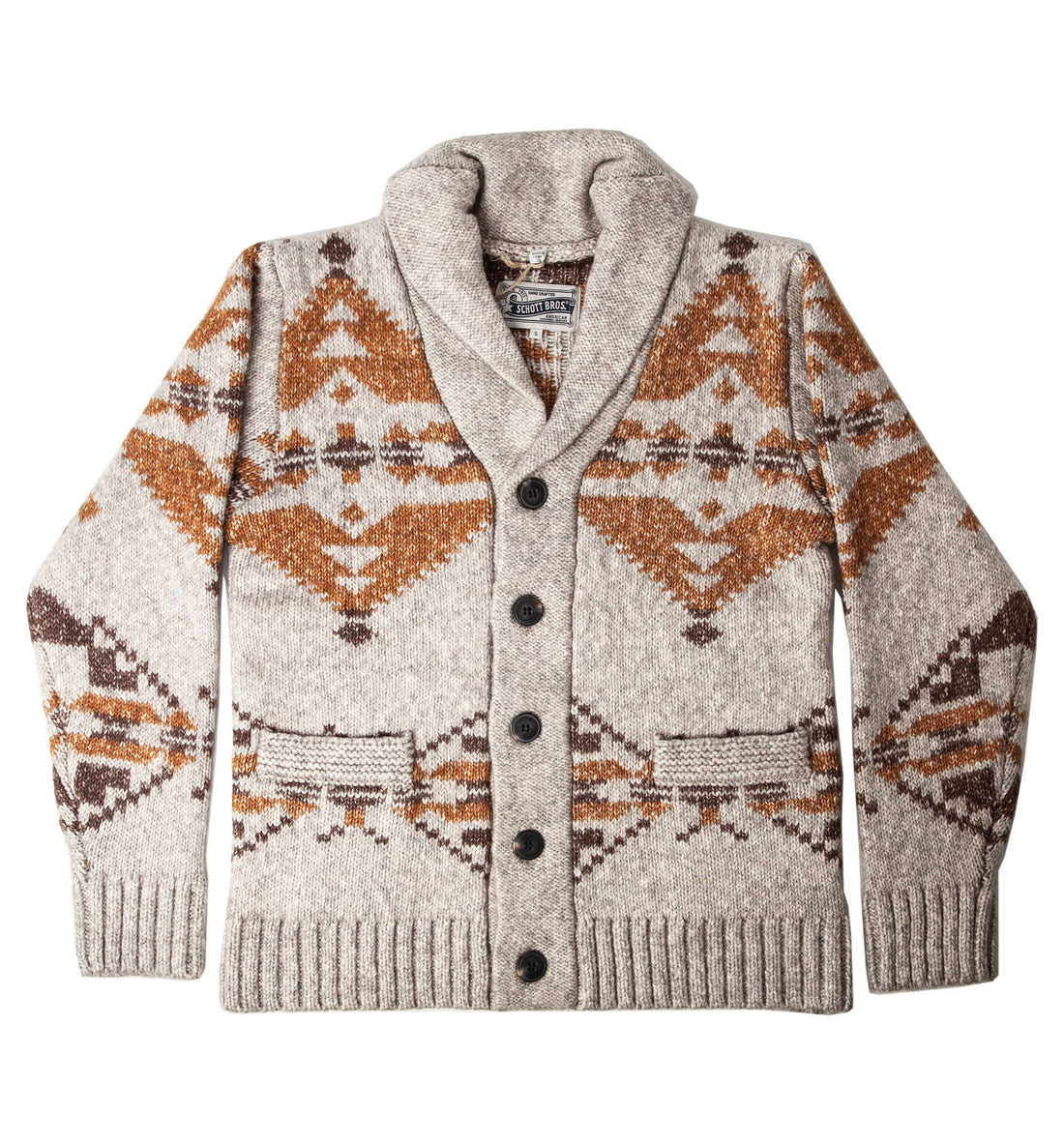 Schott NYC Corp. Men's Motif Cardigan - Tops - Iron and Resin