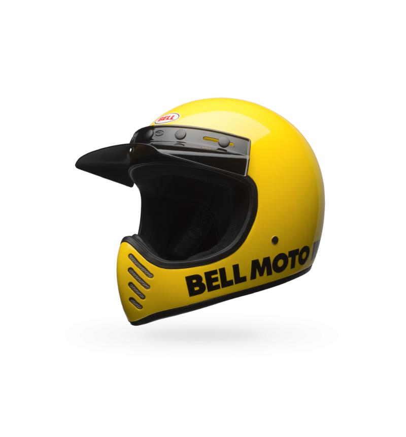 Bell Moto 3 Helmet - Yellow, M - Display Model - Riding - Iron and Resin