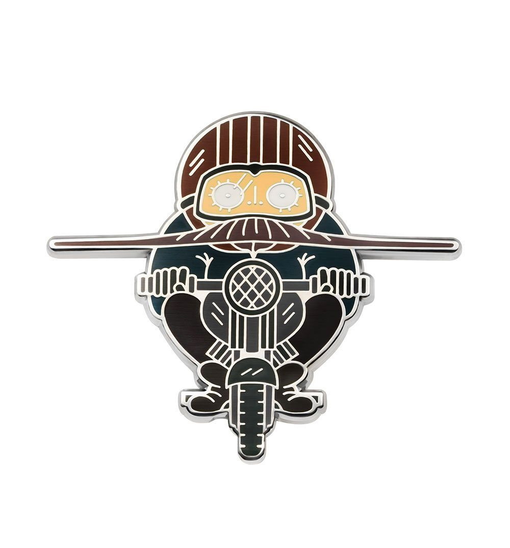 Asilda Motorcyclist Pin - Stickers/Pins/Patches - Iron and Resin