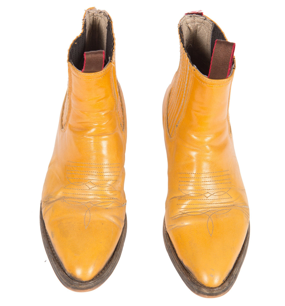 Vintage Mustard Chelsea Boots 9.5 - Vintage: Women's: Shoes - Iron and Resin