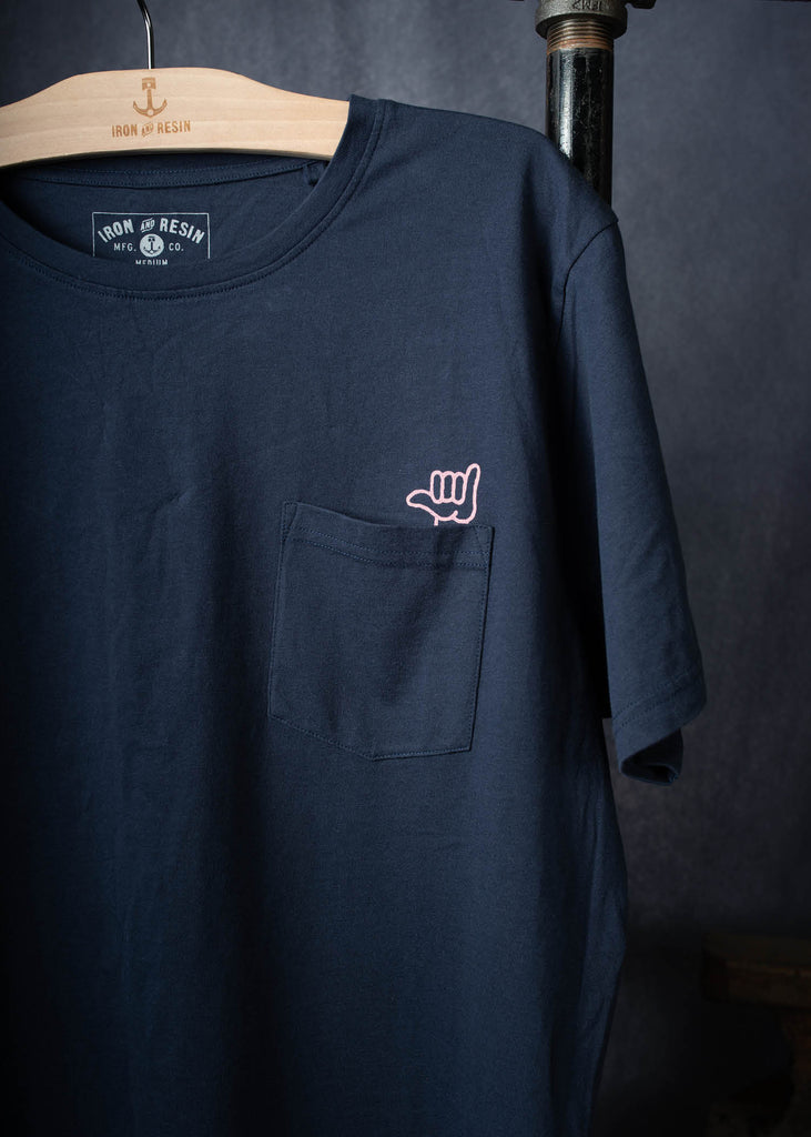 Iron & Resin No Worries Tee Pocket Graphic in Navy