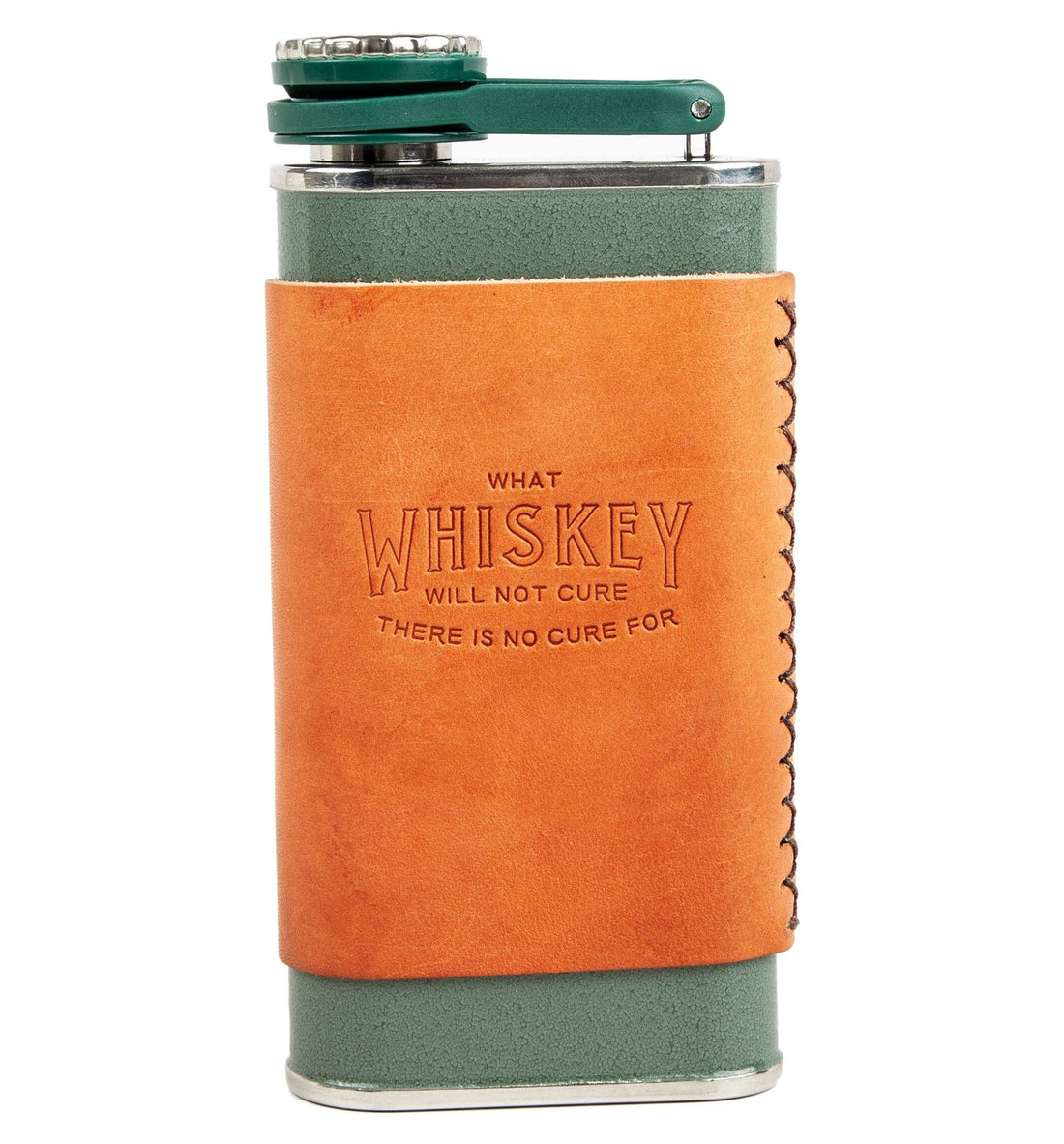 Iron & Resin No Cure Flask - Hammertone Green - 8oz - Kitchen/Bar - Iron and Resin