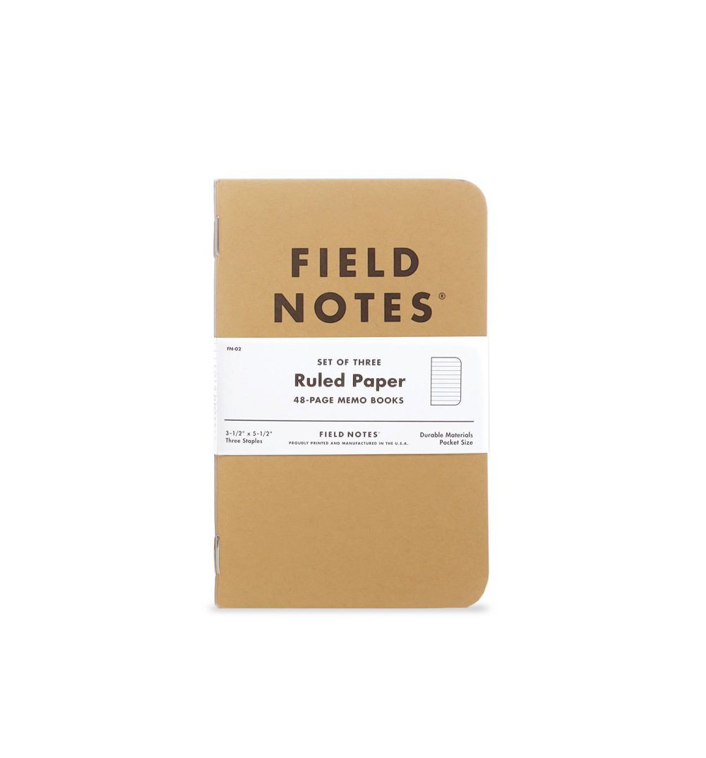 Field Notes ORIGINAL KRAFT 3-PACKS - Kraft - Ruled 3-Pack - Home Essentials - Iron and Resin