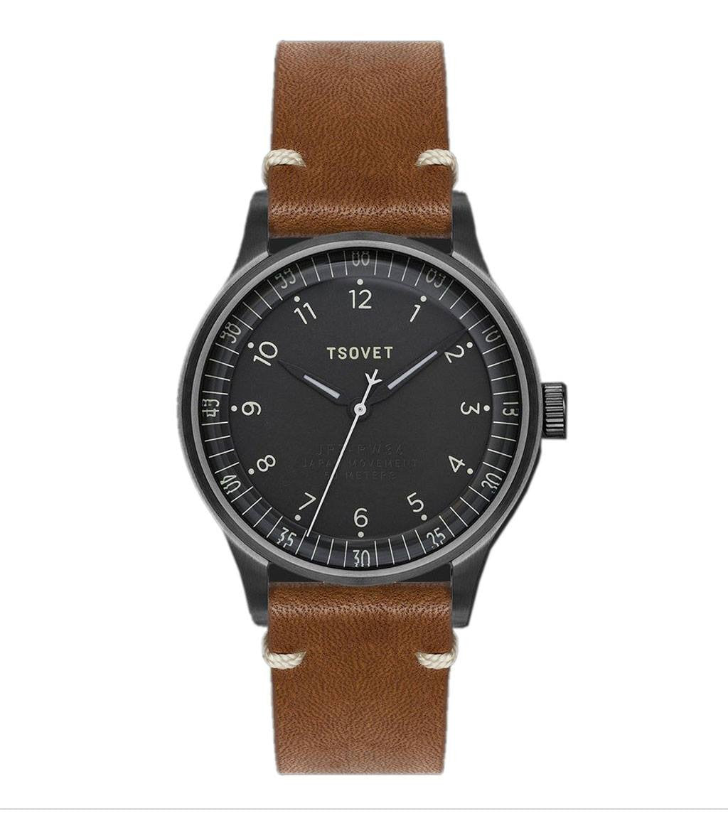 Tsovet Gun/ Drk Grey w/ Natural/ Rouille - Accessories: Watches - Iron and Resin
