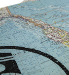 Iron & Resin Vintage Map Poster - Pacific Ocean - 19