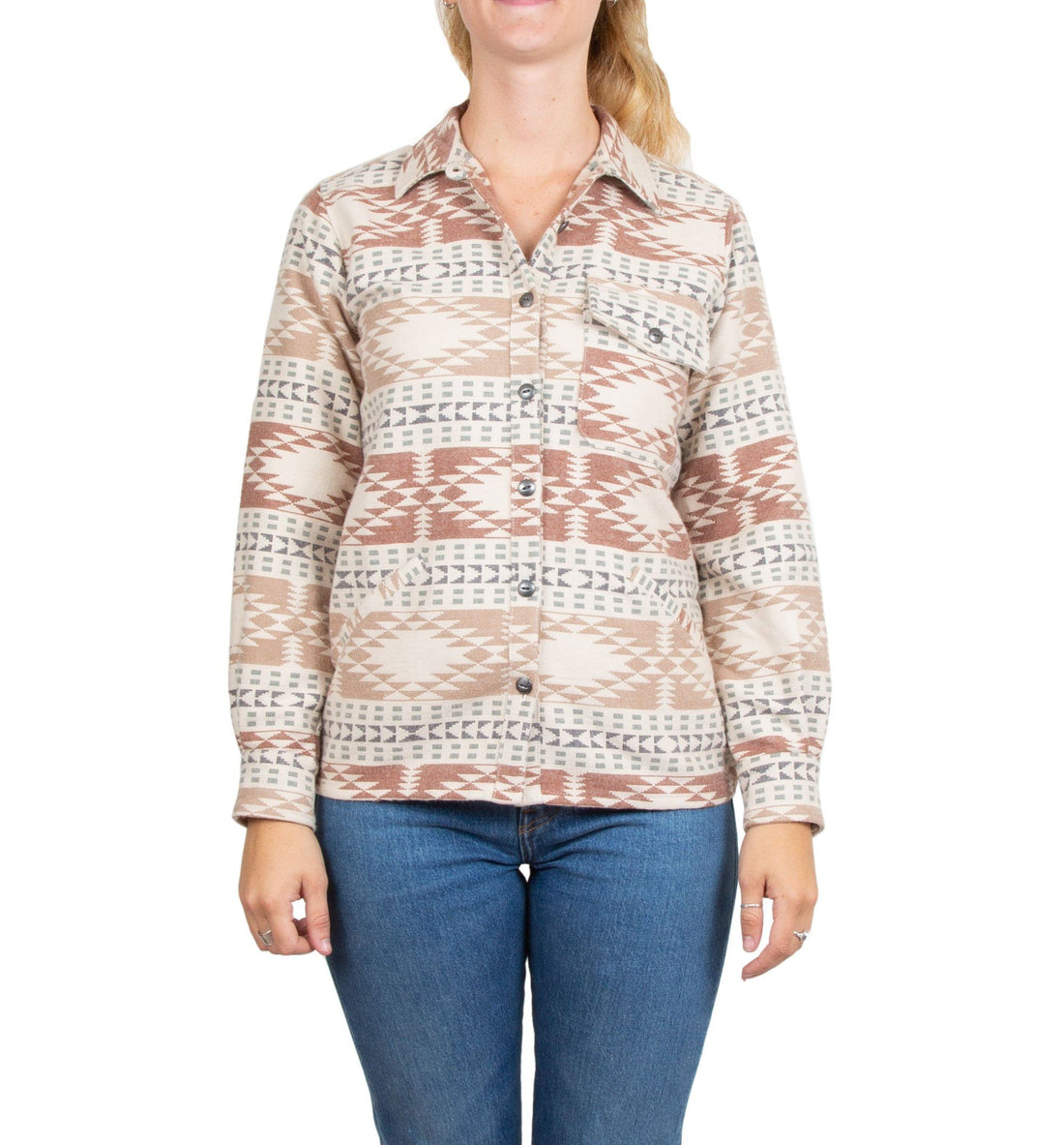 Women's Native Shirt Jacket - Tops - Iron and Resin
