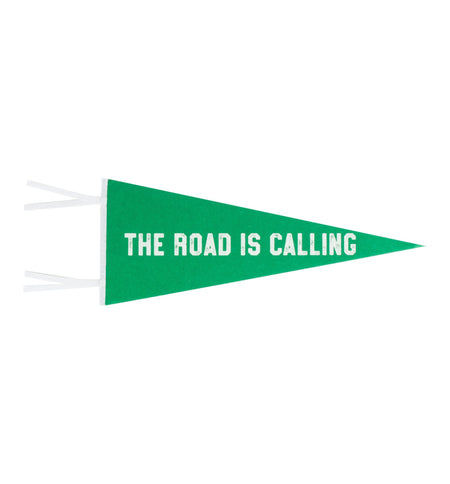 InR Pennant Flag - The Road is Calling - Living Space - Iron and Resin