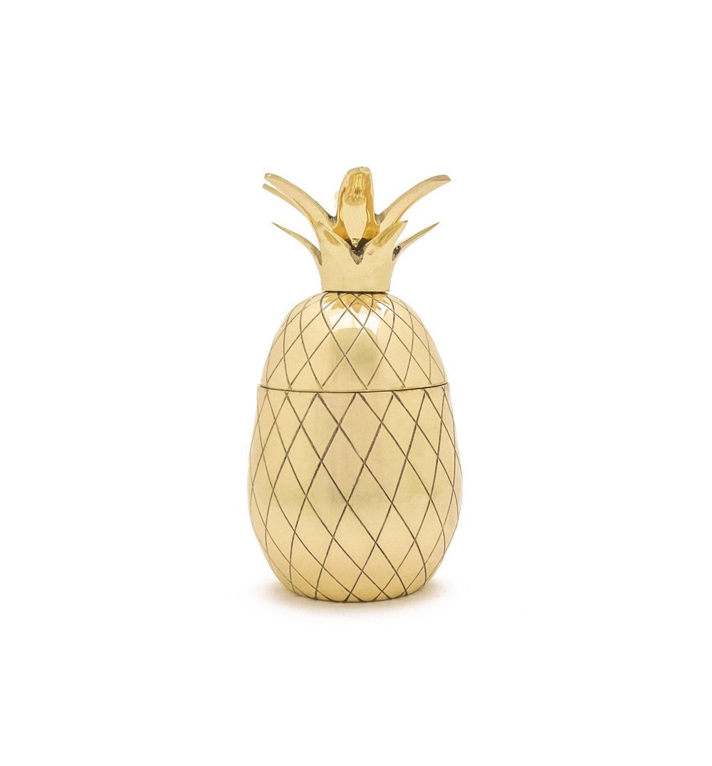 Pineapple Tumbler, Gold - Kitchen/Bar - Iron and Resin