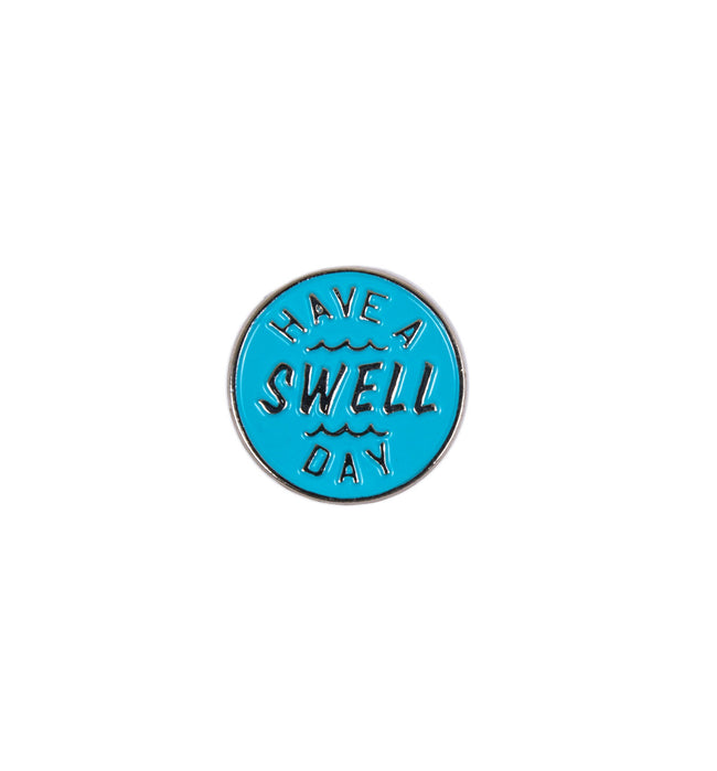 INR Swell Day Enamel Pin - Accessories: Pins - Iron and Resin
