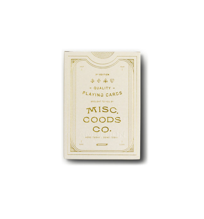 Misc Goods Co. Playing Cards - Houseware - Iron and Resin