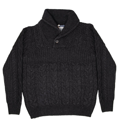 Schott NYC Corp. Men's Pullover Cable Sweater - Tops - Iron and Resin