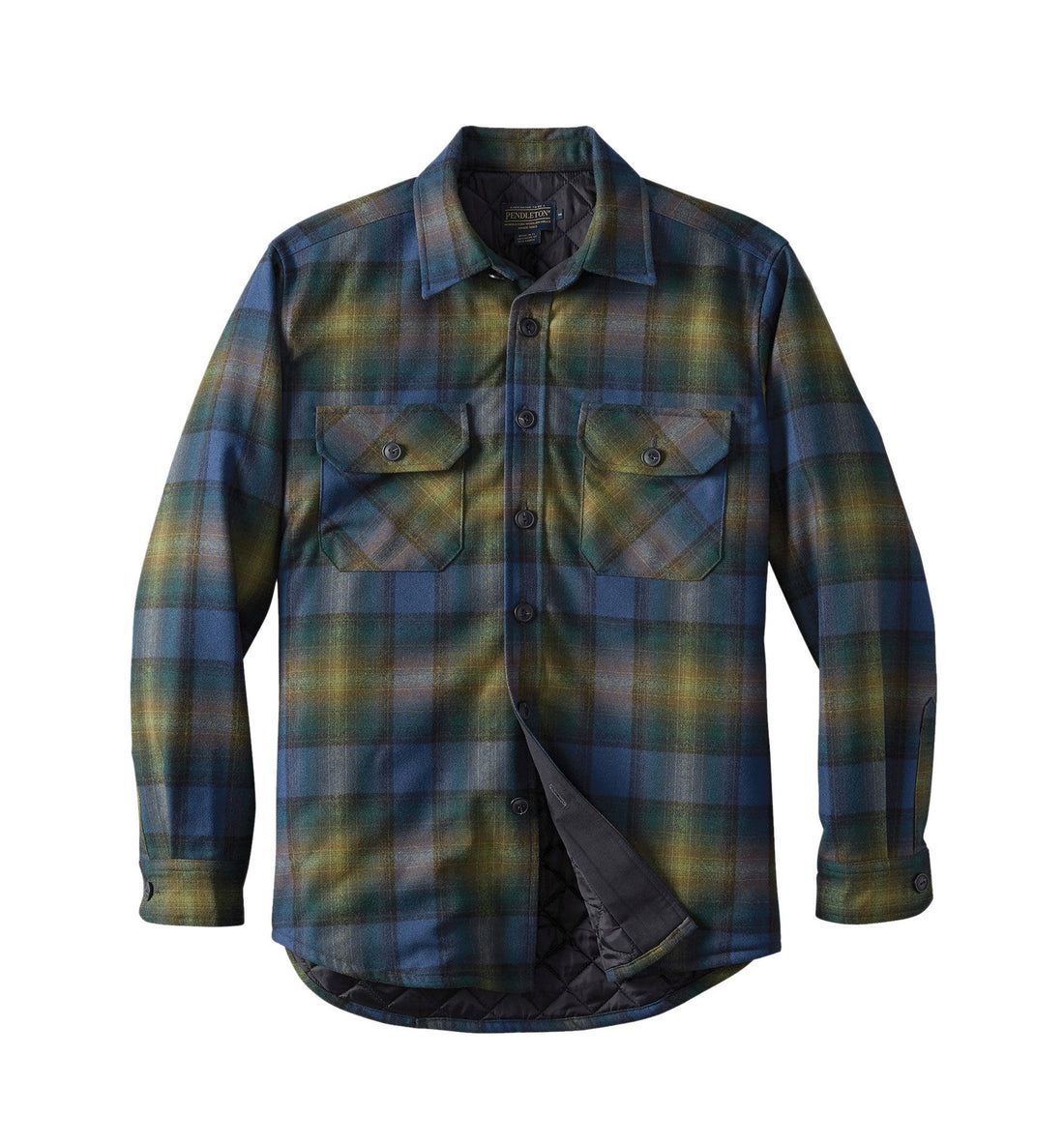 4613030b64f356 ... Pendleton Woolen Mills Quilted CPO Jacket in Wool - Outerwear - Iron  and Resin ...