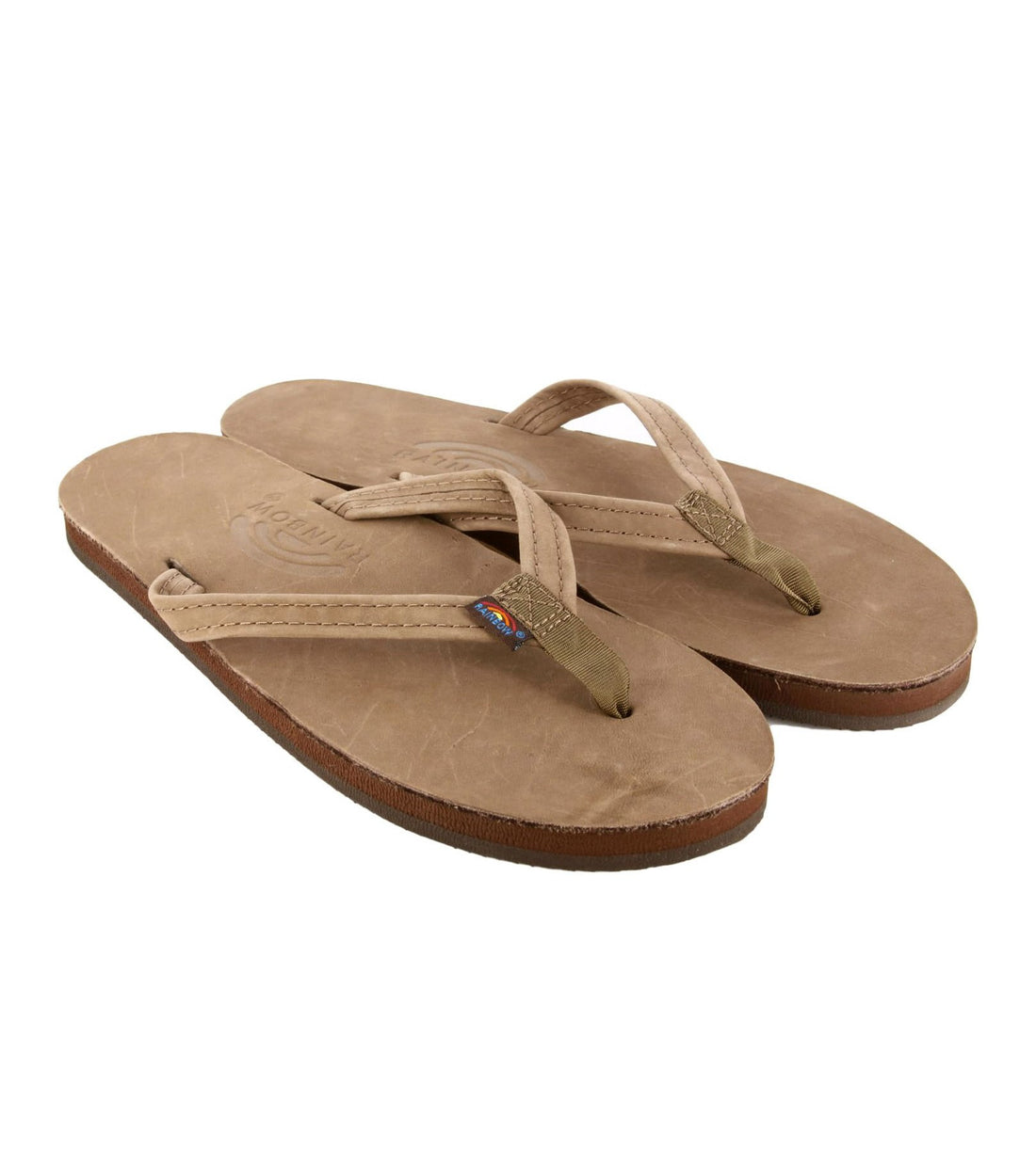 Rainbow Sandals Women's Leather Narrow Strap - Sandals - Iron and Resin