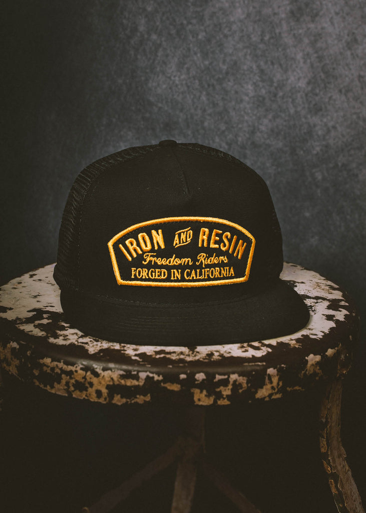 Iron & Resin Ranger Hat in Black