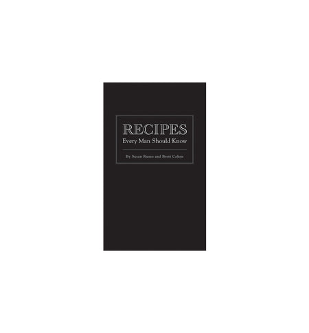 Recipes Every Man Should Know - Hardcover - Home Essentials - Iron and Resin