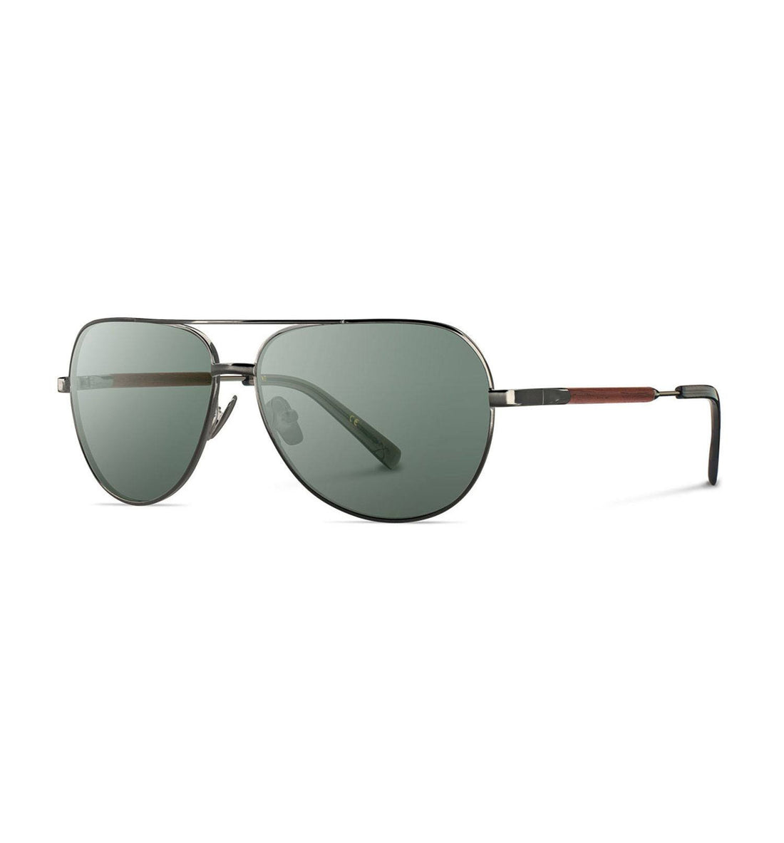 Shwood Redmond, Black Chrome Titanium Mahogany - G15 - Accessories: Eyewear - Iron and Resin
