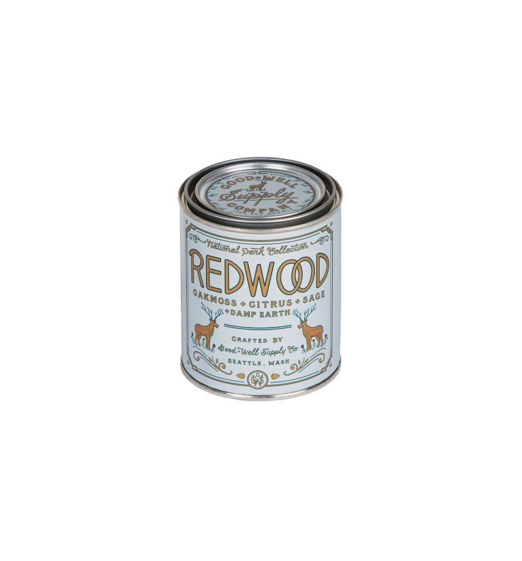 Good & Well Supply Company National Park Candle - Redwood - 1/2 Pint - Home Essentials - Iron and Resin