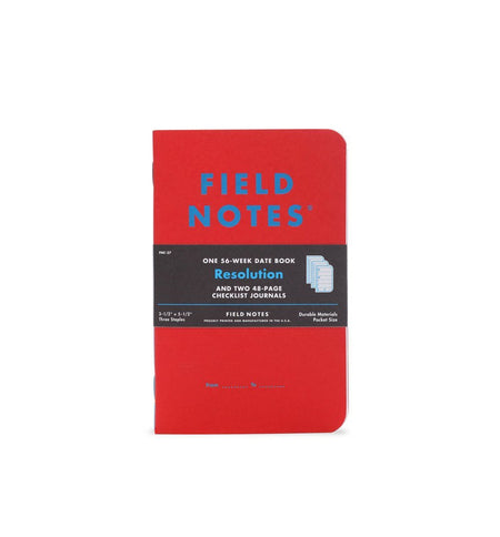 Field Notes RESOLUTION 3-PACK - Red White Blue - 3-Pack - Home Essentials - Iron and Resin